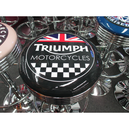 Prime Triumph Motorcycles Bar Stool Caraccident5 Cool Chair Designs And Ideas Caraccident5Info