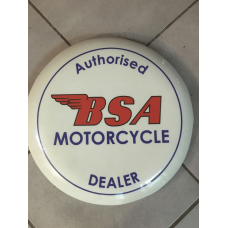 BSA Motorcycle White Bar Stool