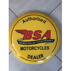BSA Motorcycles Yellow Bar Stool