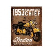 1953 Roadmaster Chief tin metal sign