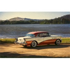 1956 Buick 3 tin metal sign