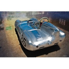 1957 Lotus Eleven Le Mans tin metal sign