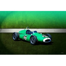 1959 Mildren Cooper T51 tin metal sign