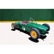 1960 Lotus 18 FJ tin metal sign