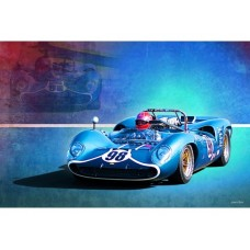 1966 Lola T70 tin metal sign