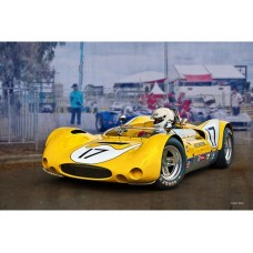 1969 Can-Am Genie MK10 tin metal sign