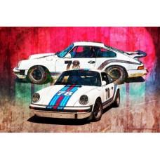 1976 Porsche 911 Carrera tin metal sign