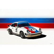 1976 Porsche 911 tin metal sign