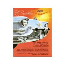 Cadillac 1957 Dagmars Bullets tin metal sign