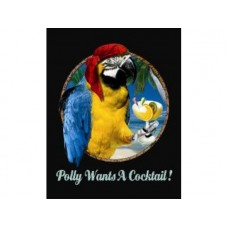 Polly Wants a Cocktail tin metal sign