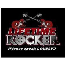 Lifetime Rocker Please Speak Loudly tin metal sign