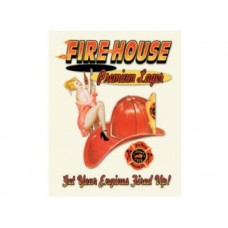 Fire House Premium lager tin metal sign