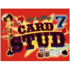 Seven Card Stud tin metal sign