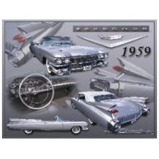 1959 Cadillac Eldorado Biarritz tin metal sign