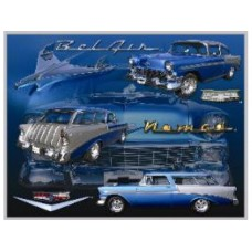 1956 Belair Nomad tin metal sign