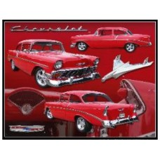 1956 Chevrolet tin metal sign