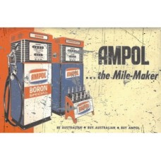 Ampol Mile maker tin metal sign
