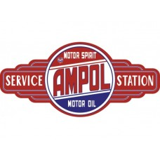 Ampol Service Station tin metal sign