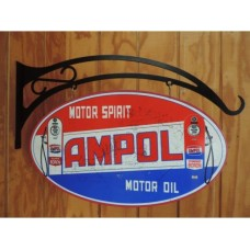 Ampol Oval Double Sided tin metal sign