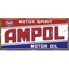 Ampol Motor Spirit tin metal sign