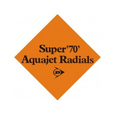 Aquajet Radials tin metal sign