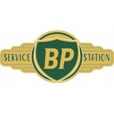 BP Service Station tin metal sign