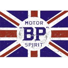 BP Motor Spirit tin metal sign