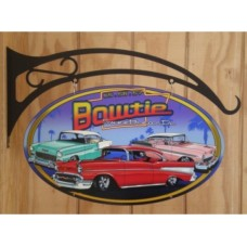 Bow Tie Sweethearts Double Sided tin metal sign