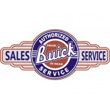 Buick Service Station tin metal sign