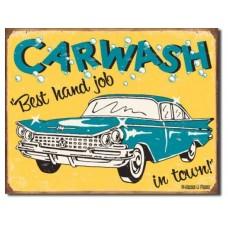 Moore - Carwash tin metal sign