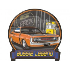 Aussie Legends Charger E49 Orange tin metal sign