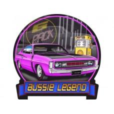 Aussie Legends Charger E49 Purple tin metal sign