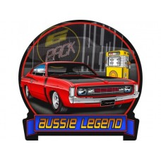 Aussie Legends Charger E49 Red tin metal sign