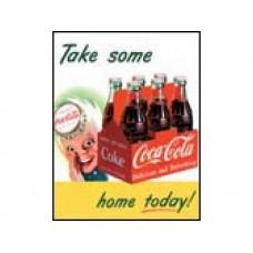 Coke Sprite Boy Take Home tin metal sign