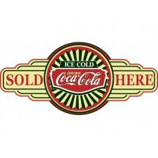 Coca Cola Service Station tin metal sign