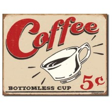 Schoenberg Coffee Scents tin metal sign