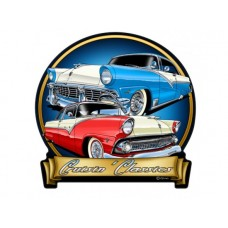 Cruisin Classics 55 56 Ford tin metal sign