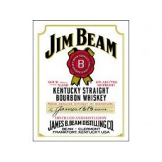 Jim Beam White Label tin metal sign