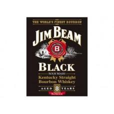 Jim Beam Black Label tin metal sign