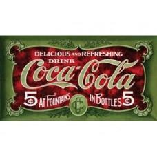 Coke-50th Anniversary Bathers tin metal sign