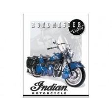 Indian-'51 Roadmaster tin metal sign