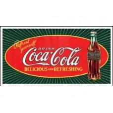 Coke Starburst Bottle tin metal sign