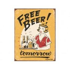 Moore -  Free Beer tin metal sign