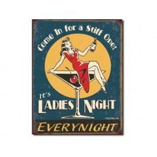 Moore - Ladies Night tin metal sign