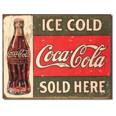 Coke c.1916 Ice Cold tin metal sign