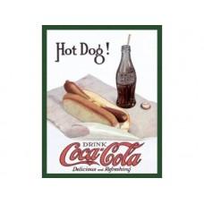Coca Cola - Hot Dog 2 tin metal sign