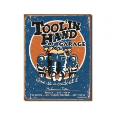 Moore - Tool In Hand tin metal sign