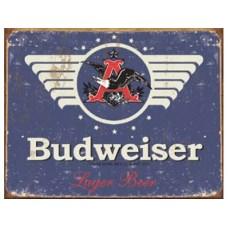 Budweiser 1936 logo tin metal sign