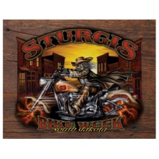 Sturgis-Wild Bill '05 tin metal sign