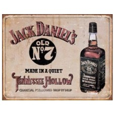 Jack Daniels Tennessee Hollow tin metal sign